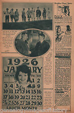 Jan 1926 Calender Girl Alice Day & Bow & Archer's Club