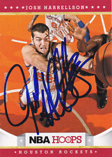 JOSH HARRELLSON NEW YORK KNICKS SIGNED HOOPS CARD DETROIT PISTONS MIAMI HEAT