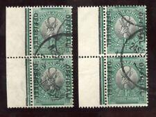 SOUTH AFRICA OFFICIAL 1929 1/2d SGO7 VFU MARGINAL PAIRS