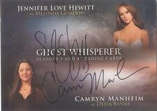 """Ghost Whisperer -  G3&4 A-JLHCM """"J Love Hewitt & C Manheim"""" Dual Autograph Card"""