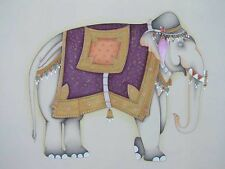 An old look fine miniature paper painting of a A ROYAL ELEPHANT.