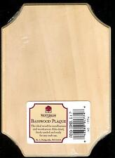 WALNUT HOLLOW BASSWOOD PLAQUE FOR WOOD BURNING & WOOD CARVING 5X7 FRENCH CORNERS