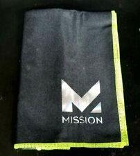 Mission Hydro Active Max Cooling Towel 10� x 33� Large ~Black/Green~ Nib m1