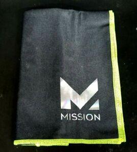 "Mission Hydro Active Max Cooling Towel 10"" x 33"" Large ~BLACK/GREEN~ NIB m1"