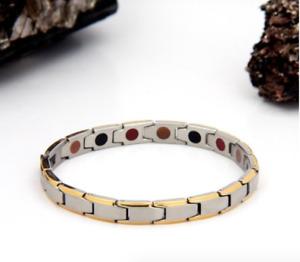 Authentic Pur life Negative Ion Bracelet ELEGANT BRUSHED STAINLESS GOLD BALANCE