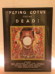 FLYING LOTUS - YOUR DEAD. Original Promo Poster Framed.