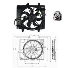 Dual Rad & Cond Fan Assembly Fits: 2006 - 2010 Chrysler PT Cruiser L4 2.4L ONLY