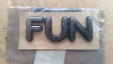 Neues Emblem Logo Schriftzug Chrom Ford Fiesta Fun (Bj.95-02) 1007571 #VH0281