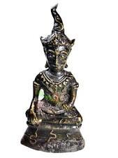 6625-BUDDHA BONZE STATUE NGUNG KHMER AMULET ART OLD VINTAGE NGAN DECOR MINIATURE