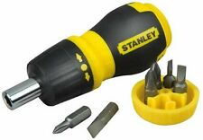 Stanley Multi-bit Adjustable Ratchet Small Stubby Screwdriver Bits STA066358