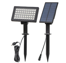 Solar 50-LED Bright Spotlights Separate Panel Adjustable Outdoor Security Lamp