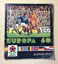 FIGURINE PANINI - EUROPA '80 - SOLO COPERTINA - ONLY COVER ORIGINAL -REMOVED