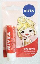 NIVEA Lip Balm PEACH SHINE Long Last Moisturising Lip Stick Dry Flavor 4.8g