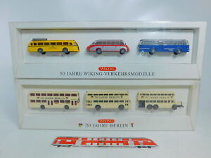 CA138-1# 2x Wiking 1:87/H0 Bus-Set: 50 J Verkehrsmodelle + 750 J Berlin, s.g+OVP