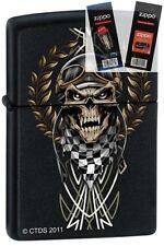 Zippo 7289 race skull Lighter with *FLINT & WICK GIFT SET*