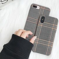 Vintage Designer Protective HandMade Fabric Case Cover for iPhone 7 X 8 6s Plus