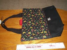 "Large Canvas Tote Handbag, Purse Mary Engelbreit Cherry Toss Pattern 14""× 12"""