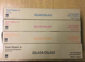 NRG DSc424 DSc432 Toner Cartridge Cyan Magenta Yellow Black 888499 888500 888501