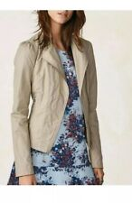 Women's Jacket Size 12 Next Lace up back Biker Asymetric Zip Stone Jacket Rrp£55