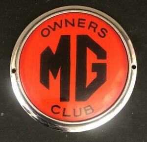 MG OWNERS CLUB MOTOR CAR BADGE EMBLEM
