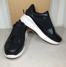 UGG Libu Women's Size 6.5 Black Leather Slip On Platform Fashion Sneakers X1-694