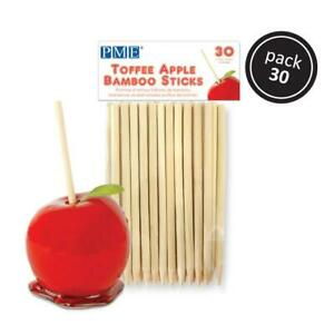 Toffee Apple Bamboo Sticks 30 Pack 13cms