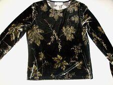 CASUAL CORNER Velvet Shirt Size L