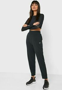 New Ladies Nike Size Small Track Pants Bliss Victory Black Yoga Gym Running