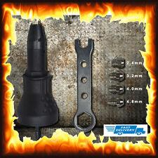 Rivet Gun Attachment Drill Electric Riveting Bosch Dewalt Makita Ryobi Adaptor