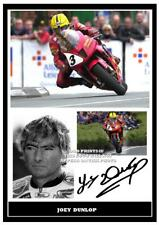 055..  JOEY DUNLOP SUPERBIKES  SIGNED REPRODUCTION PRINT SIZE A4