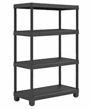 Heavy Duty 4 Tier Plastic Shelf Home Storage Shelving Unit Shelves Rack Racking