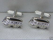 Rhodium Plated Vehicles & Transportation Cufflinks for Men