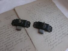 French antique iron latch locks bolt set of 2 c.1900 - 30 country classic