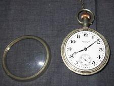 Reloj de bolsillo Antiguo WALTHAM USA AWW Co. 1918? no funciona antiguo llaves recta caso