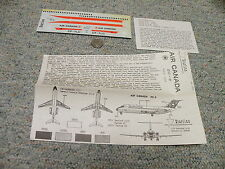 Revell  Lodela Kikoler  decals 1/120 H-246 DC-9 Air Canada- sheet + instructions