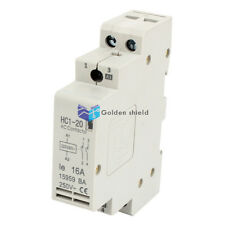 HC1-20 Double Pole Electric Power AC Contactor Block 220V/240V Coil Volt 16A