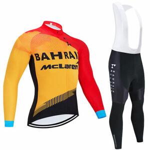 Man Cycling Clothes Jersey Pants Set Long Sleeve 3D Pad Bike Ride 2021