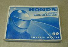 HONDA 1999 GL 1500 CF VALKYRIE INTERSTATE OWNERS MANUAL OEM VINTAGE