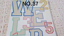 Brother Bernina Bernette #37 Emb Card Varsity Alphabet Numbers Nice Pre-Own