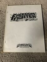 original Freedom Fighter   arcade video Game manual
