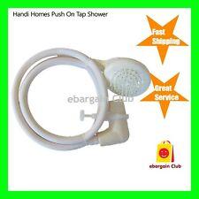 Handi Homes Push On Tap Shower - 1.2m Hose - L-Shaped Tap Rubber Coupling eBC