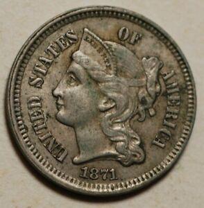 U.S. Three Cent 1871 Very Fine