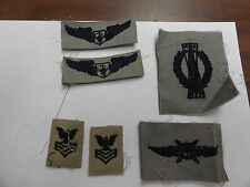 MILITARY PATCH US AIR FORCE SEW ON CLOTH BADGE ABU SET OF 6 DIFFERENT BADGES