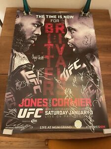 UFC 182 JON JONES vs. DANIEL CORMIER Signed Poster • MMA Cerrone Garbrandt