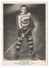1939-40 O-Pee-Chee V301-1 Lorne Carr # 62 New York Americans (5 x 7 card)