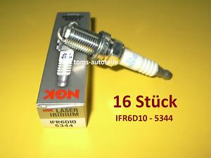16 ORIGINAL NGK Zündkerzen IRIDIUM IFR6D10 5344 MERCEDES BENZ W203 S203 C55 AMG