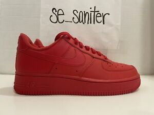 Nike Air Force 1 '07 LV8 University Red Triple Red CW6999-600 Men's Size 7