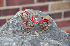 G & F 10022 Fairy Garden Miniature Mini Bicycle - Red