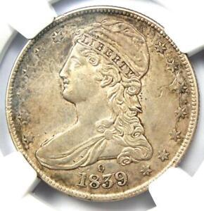 "1839-O Capped Bust Half Dollar 50C - NGC AU Details - Rare ""O"" Mint Coin!"