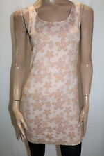 S&W Brand Nude Lace Print Bodycon Dress Size S/M BNWT #TQ37
